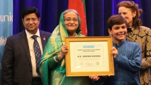 PM receives 'Champion of Skill Development for Youth' award